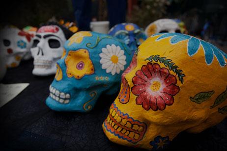 Painted skulls. Photo: Morgan Yew