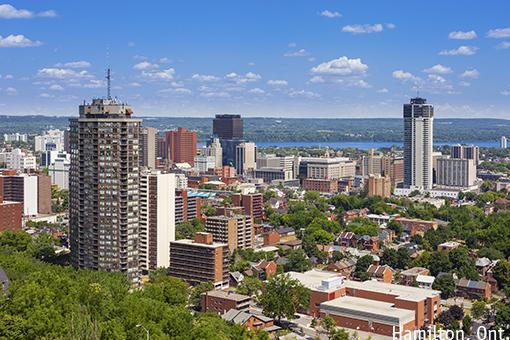 Hamilton, Ontario's skyline.