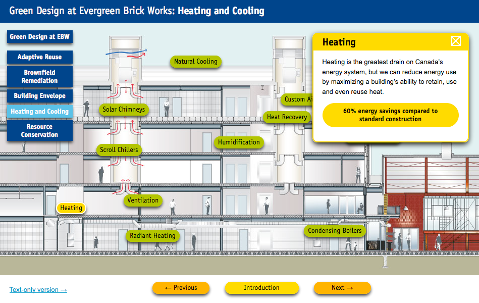 Screenshot of Heating and Cooling features