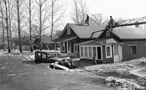 Flooding caused by Hurricane Hazel. City of Toronto Archives, Fonds 1257, Series 1057, Item 1997
