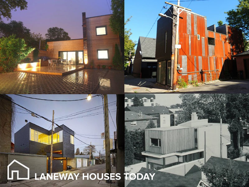 Examples of laneway houses.