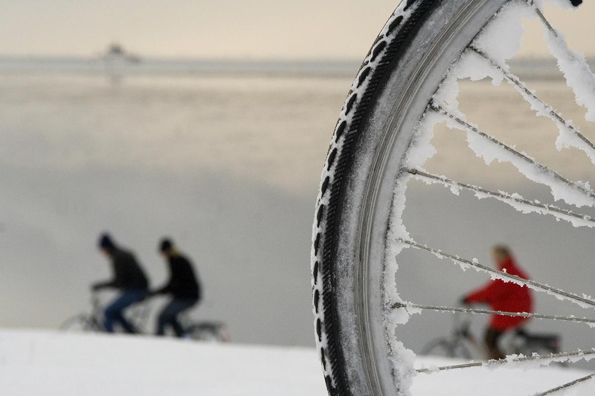 Bike wheel with icycles
