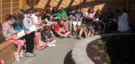 Students at Mapleton School enjoy their Outdoor Classroom.