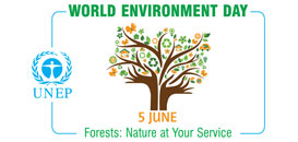 World Environment Day June 5. Forests: At Your Service.